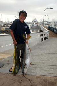 Luke Lackey with his first Dorado